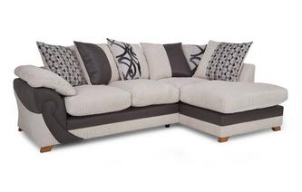 Left Arm Facing Open End Pillow Back Corner Deluxe Sofabed Illusion