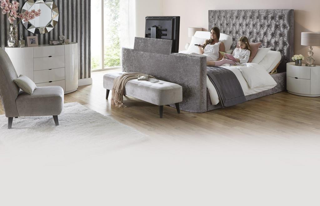 Impulse Super King Size 6 Ft Adjustable Tv Bed