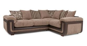 Inception Left Hand Facing 2 Seater Pillow Back Corner Sofa