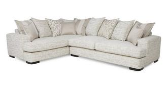 Indulge Right Hand Facing 3 Seater Pillow Back Corner Sofa