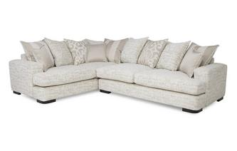 Right Hand Facing 3 Seater Pillow Back Corner Sofa Indulge