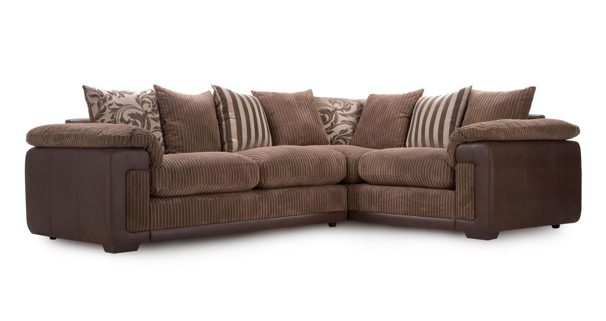 Dfs Infinity Mocha Fabric Left Hand Facing Pillow Back Corner Sofa Ebay