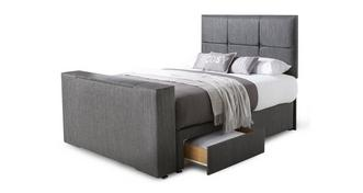 Inspire King (5 ft) Continental 4 Drawer TV Bed