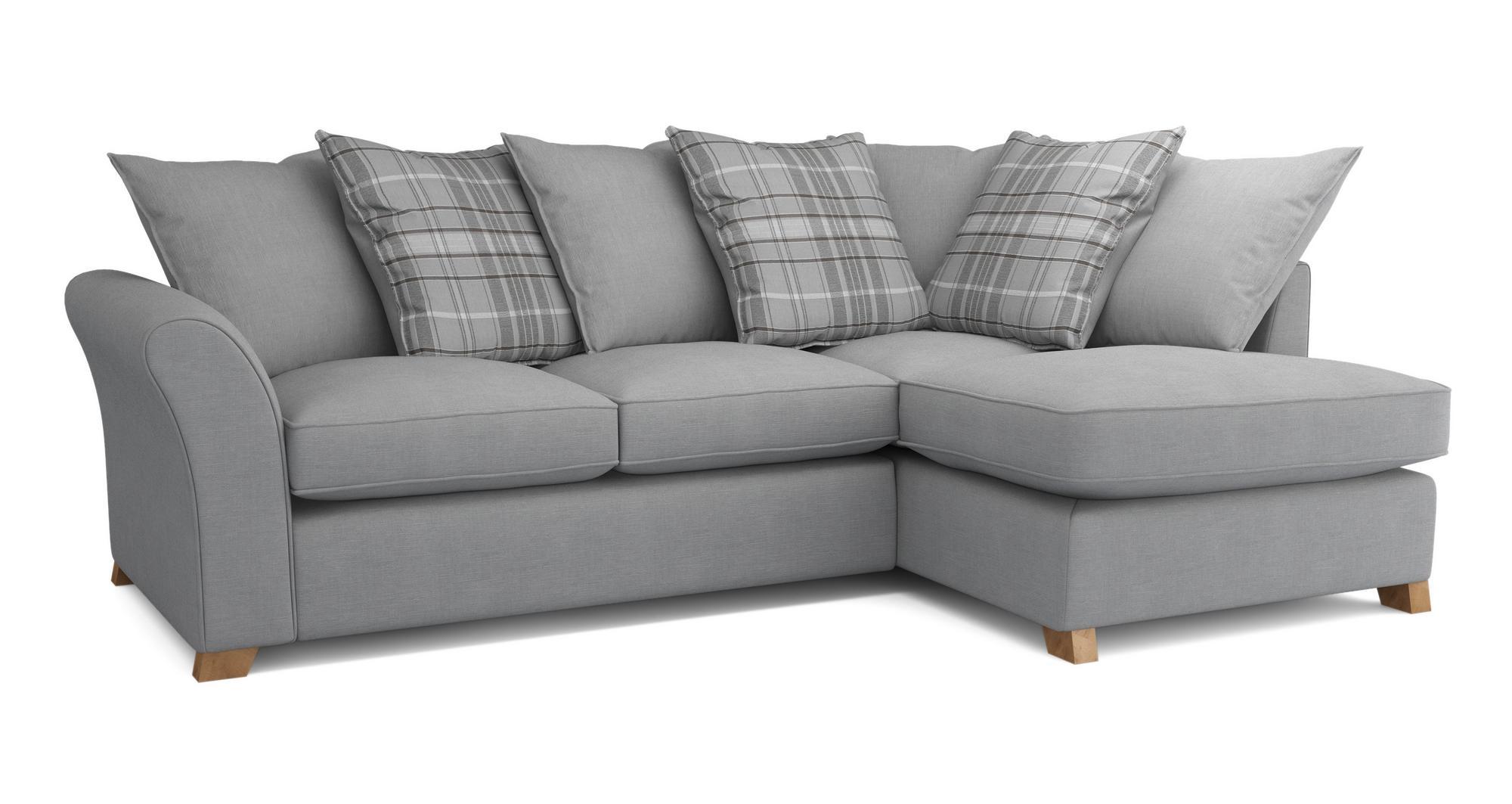dfs jasper ash grey fabric corner sofa storage stool. Black Bedroom Furniture Sets. Home Design Ideas