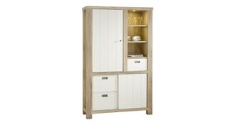 Juliette High Cabinet with 2 Doors & 3 Drawers