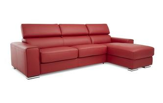 Right Hand Facing 3 Seater Storage Chaise Sofabed