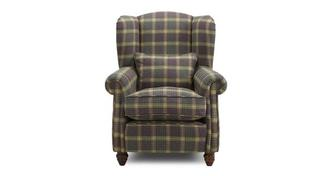 Kendal Plaid Wing Chair