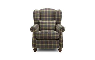 Plaid Wing Chair Kendal Plaid