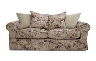Floral and Pattern Pillow Back Large Sofa Kendal Floral