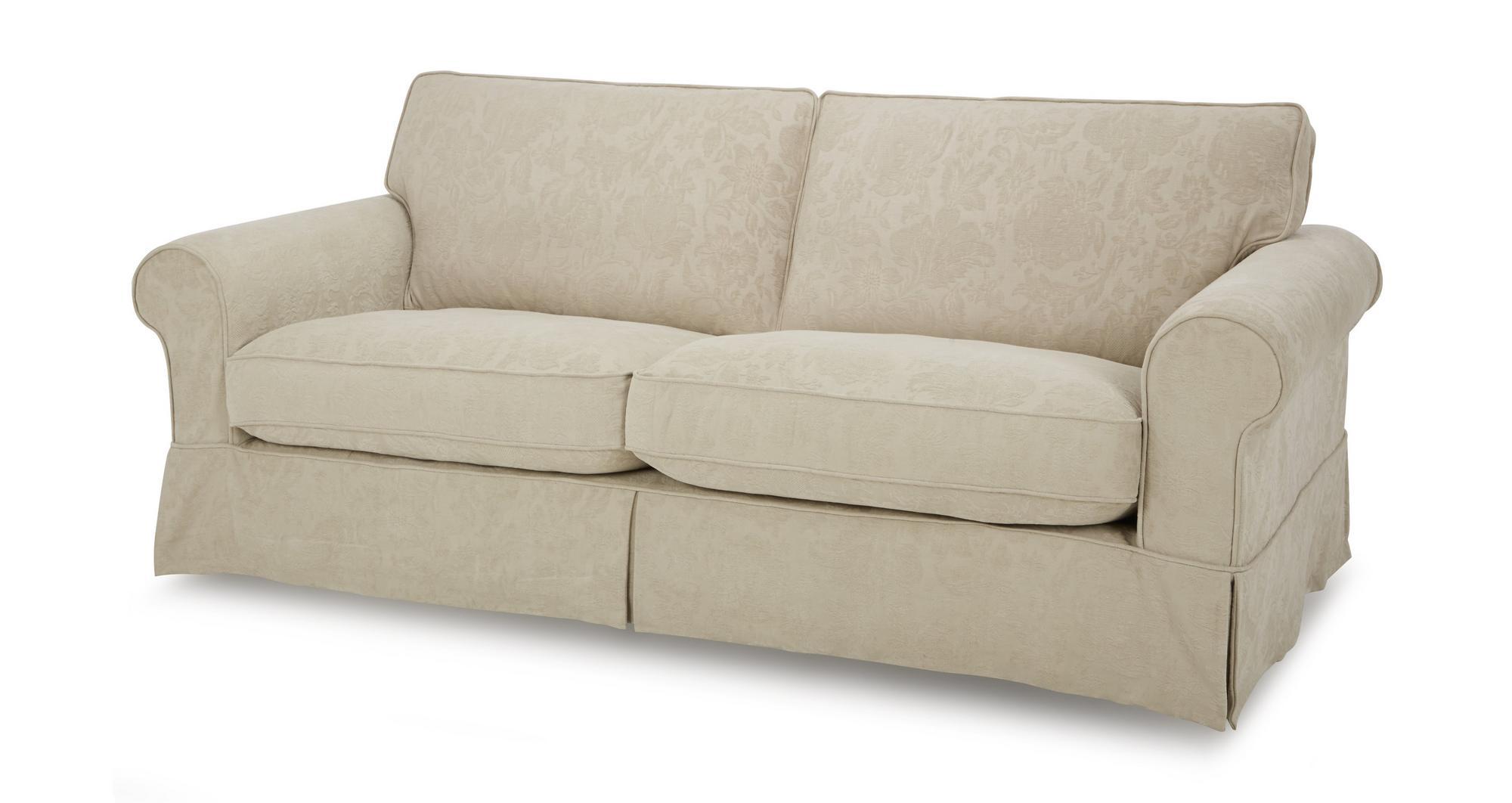 Dfs Kendal Linen Pattern Fabric Formal Back Grand Sofa Ebay