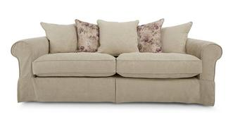 Kendal Pattern and Floral Pillow Back Grand Sofa