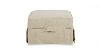 Kendal Pattern Loose Cover Storage Footstool