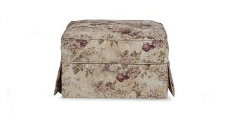 Kendal Floral Loose Cover Storage Footstool