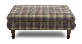 Kendal Large Fixed Cover Plaid Footstool