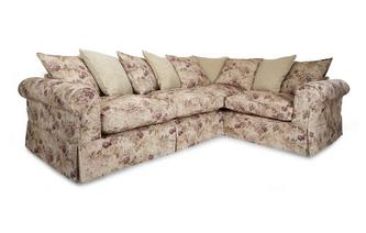 Left Hand Facing Floral and Pattern Pillow Back 3 Seater Corner Group Kendal Floral