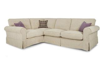 Right Hand Facing Pattern Formal Back 3 Seater Corner Group