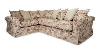 Kendal Right Hand Facing Floral and Pattern Pillow Back 3 Seater Corner Group