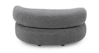 Kenya Plain Half Moon Footstool