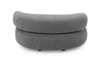 Plain Half Moon Footstool Kenya