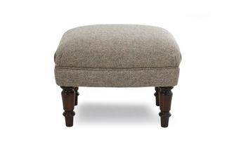 Footstool Harris Tweed