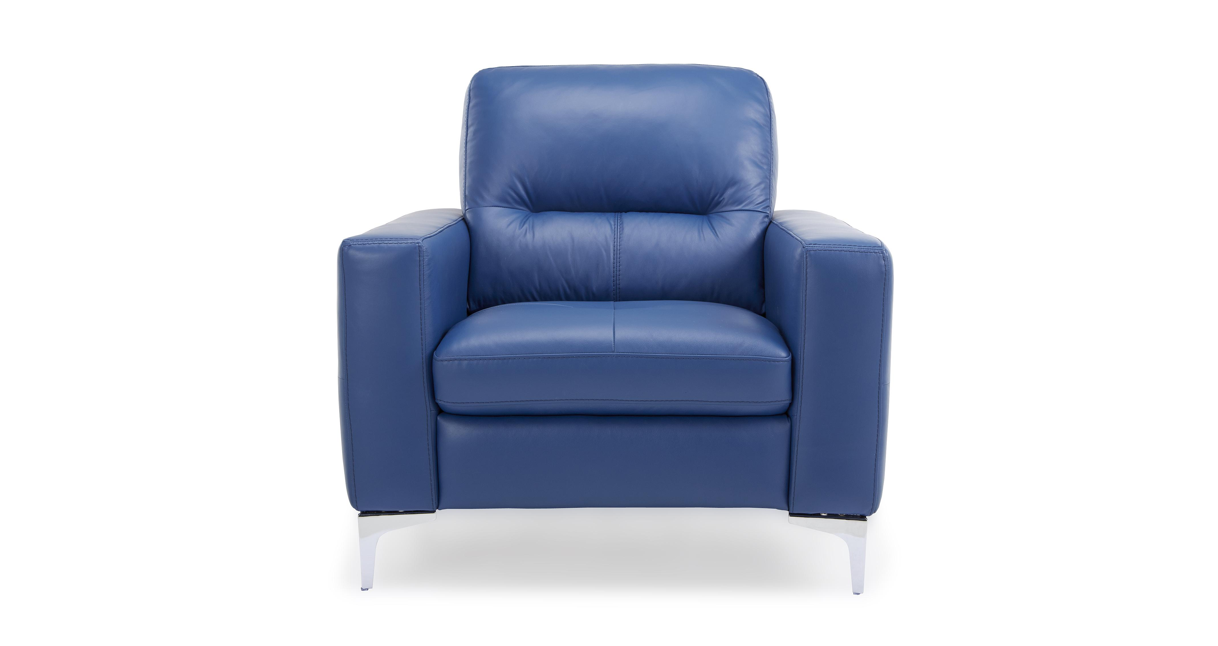 dfs klein blue leather sofa set inc chaise chair swivel
