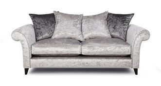 Krystal 3 Seater Pillow Back Sofa