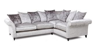 Krystal Left Hand Facing 2 Seater Pillow Back Corner Sofa