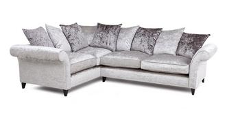 Krystal Right  Hand Facing 2 Seater Pillow Back Corner Sofa
