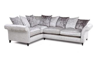 Right  Hand Facing 2 Seater Pillow Back Corner Sofa Krystal
