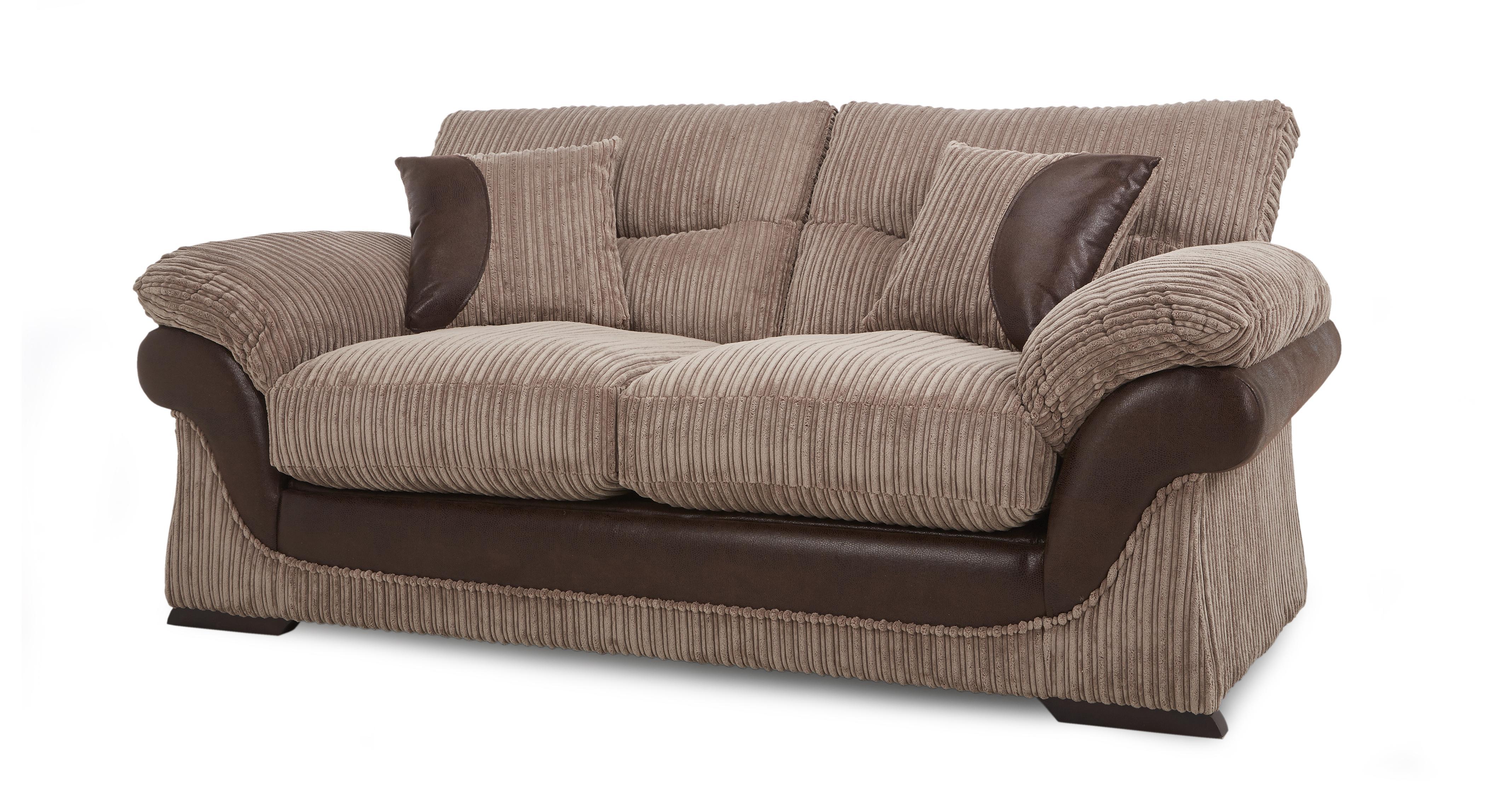 Dfs Landon Nutmeg Fabric Large 2 Seater Sofa Bed Ebay