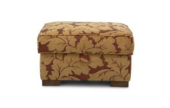 Floral Storage Footstool