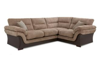 Left Hand Facing Arm 2 Piece Corner Sofa Wyndham Rib
