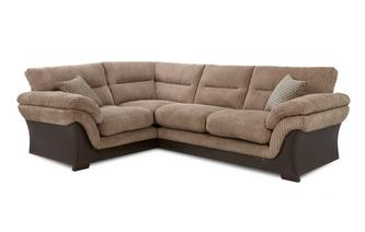 Right Hand Facing Arm 2 Piece Corner Sofa Wyndham Rib