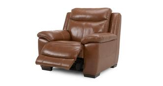 Liaison Leather and Leather Look Manual Recliner Chair