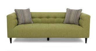 Lisson Plain and Stripe Large Sofa