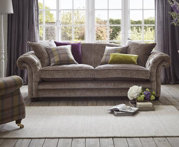 loch leven Brown Fabric Sofa