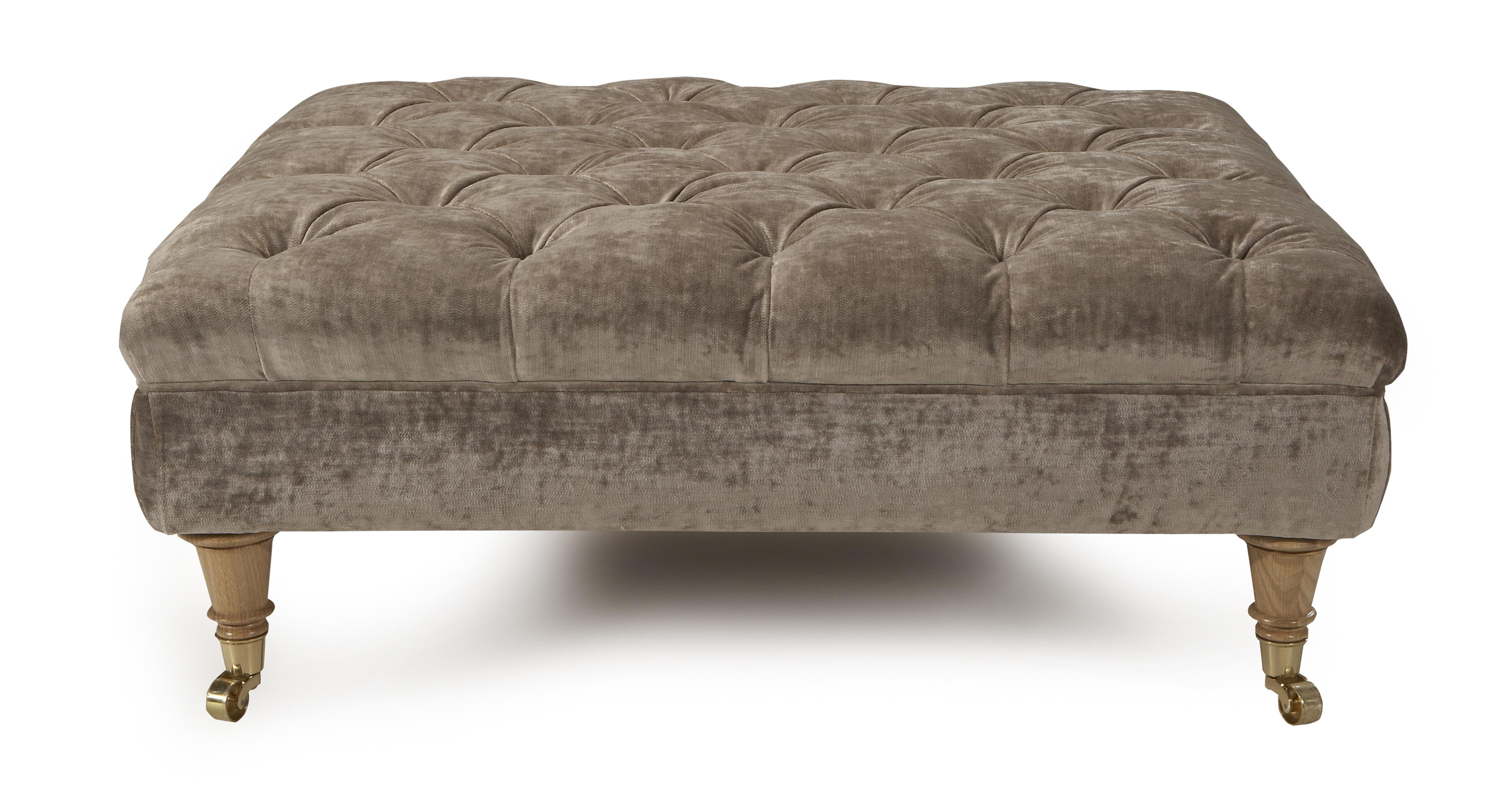 Loch Leven Large Button Footstool DFS