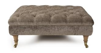 Loch Leven Large Button Footstool