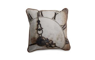Leather Clock Scatter Cushion