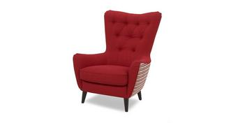 Louvre Plain and Pattern Accent Chair