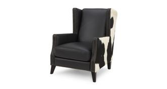 Lowry Leather and Hide Accent Chair