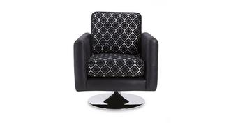Luna Pattern Small Swivel Chair