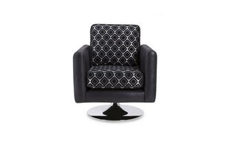 Pattern Small Swivel Chair Luna