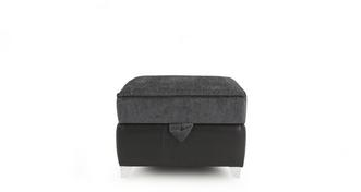 Luna Plain Top Storage Footstool
