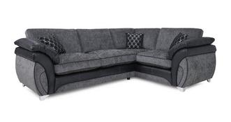 Luna Left Hand Facing 3 Seater Formal Back Corner Sofa