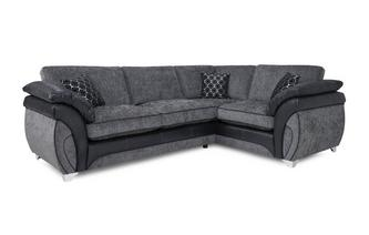 Left Hand Facing 3 Seater Formal Back Corner Sofa Luna