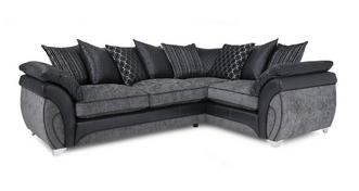 Luna Left Hand Facing 3 Seater Pillow Back Corner Sofa