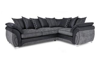 Left Hand Facing 3 Seater Pillow Back Corner Sofa Luna