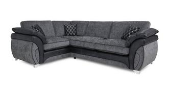 Luna Right Hand Facing 3 Seater Formal Back Corner Sofa