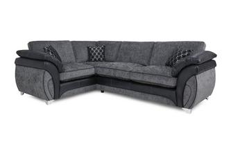 Right Hand Facing 3 Seater Formal Back Corner Sofa Luna